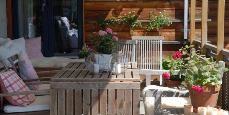 como decorar terraza